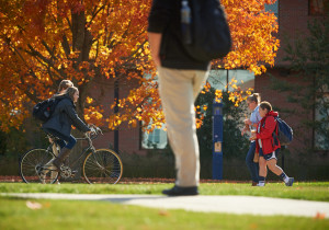 Konduri and Lownes want the survey to track all modes of transportation, including walking and bicycles. (Peter Morenus/UConn Photo)