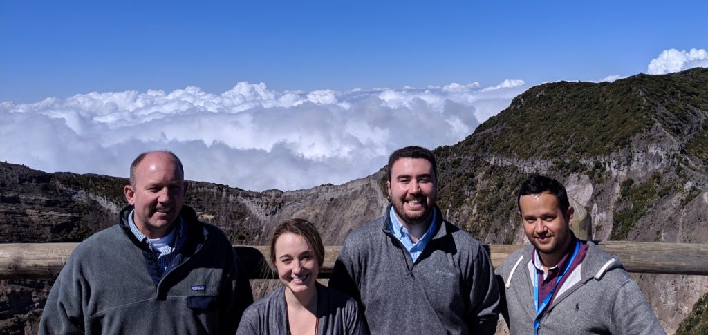 From left: Professor Richard Christenson, Alexandra Hain, Connor Ligeikis, and Sergio Lobo-Aguilar.