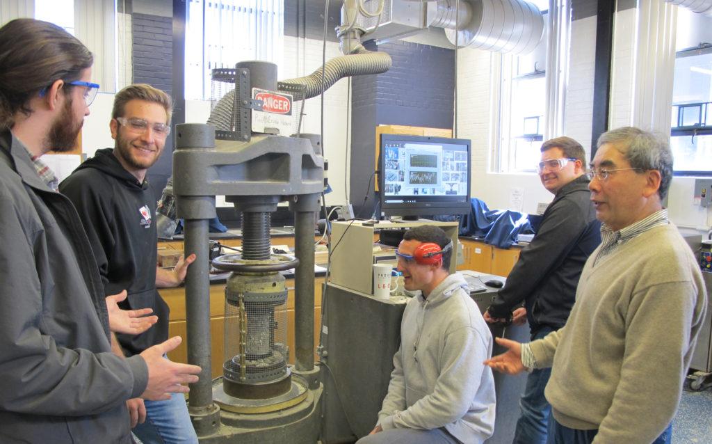 From left: Jeffrey Steiner, Anton Kaminskiy, Michael Pagano, Keith Robbins, and Dr. Lanbo Liu