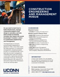 Construction Engineering and Management Minor Brochure Page
