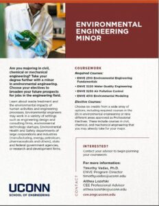Environmental Engineering Minor Brochure Page