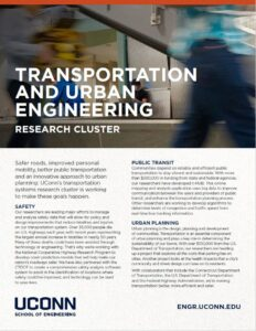 Transportation and Urban Engineering Research Cluster Brochure Page