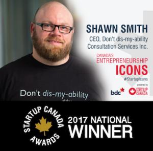 Shawn Smith, 2017 National Winner Startup Canada Awards