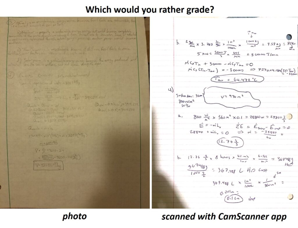 Side by Side comparison of a photo versus a scanned document